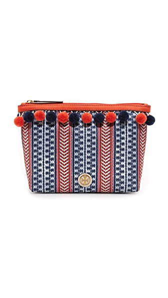 Tory Burch Pom Pom Cosmetic Case