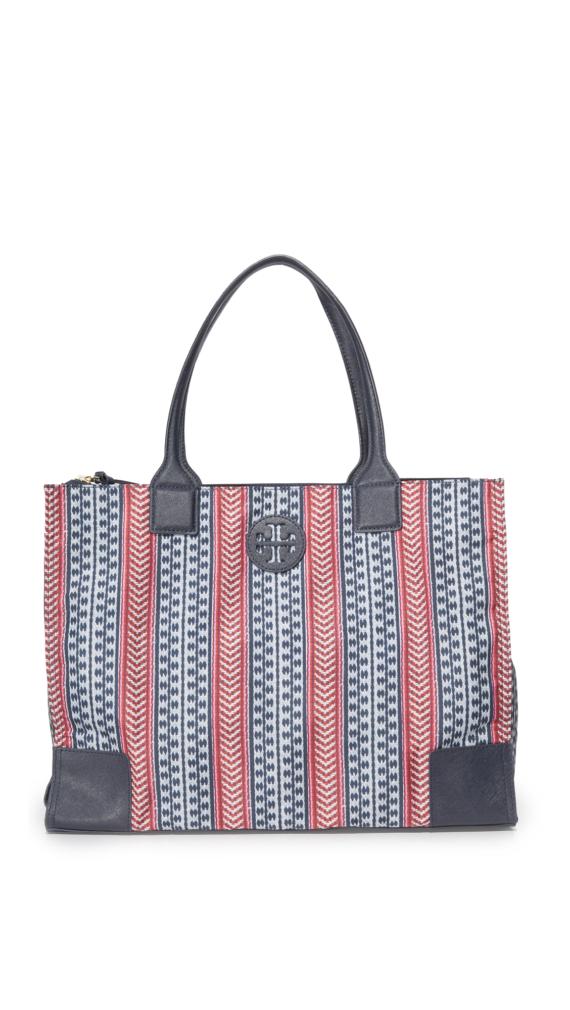 tory burch female tory burch printed packable ella tote tory navymulti