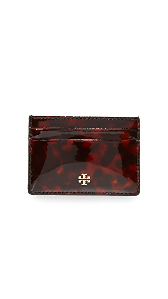 Tory Burch Robinson Tortoise Slim Card Case