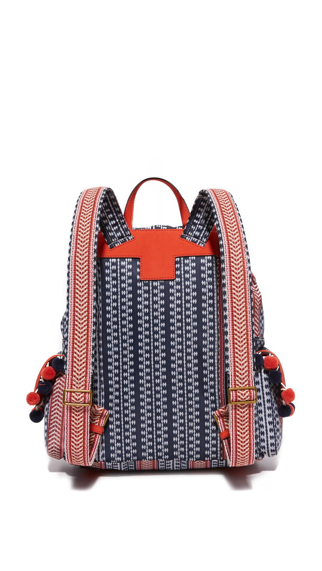 0eca3e98e2f9 Tory Burch Scout Nylon Pom Pom Backpack