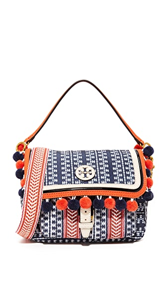 Tory Burch Scout Nylon Pom Pom Cross Body Bag
