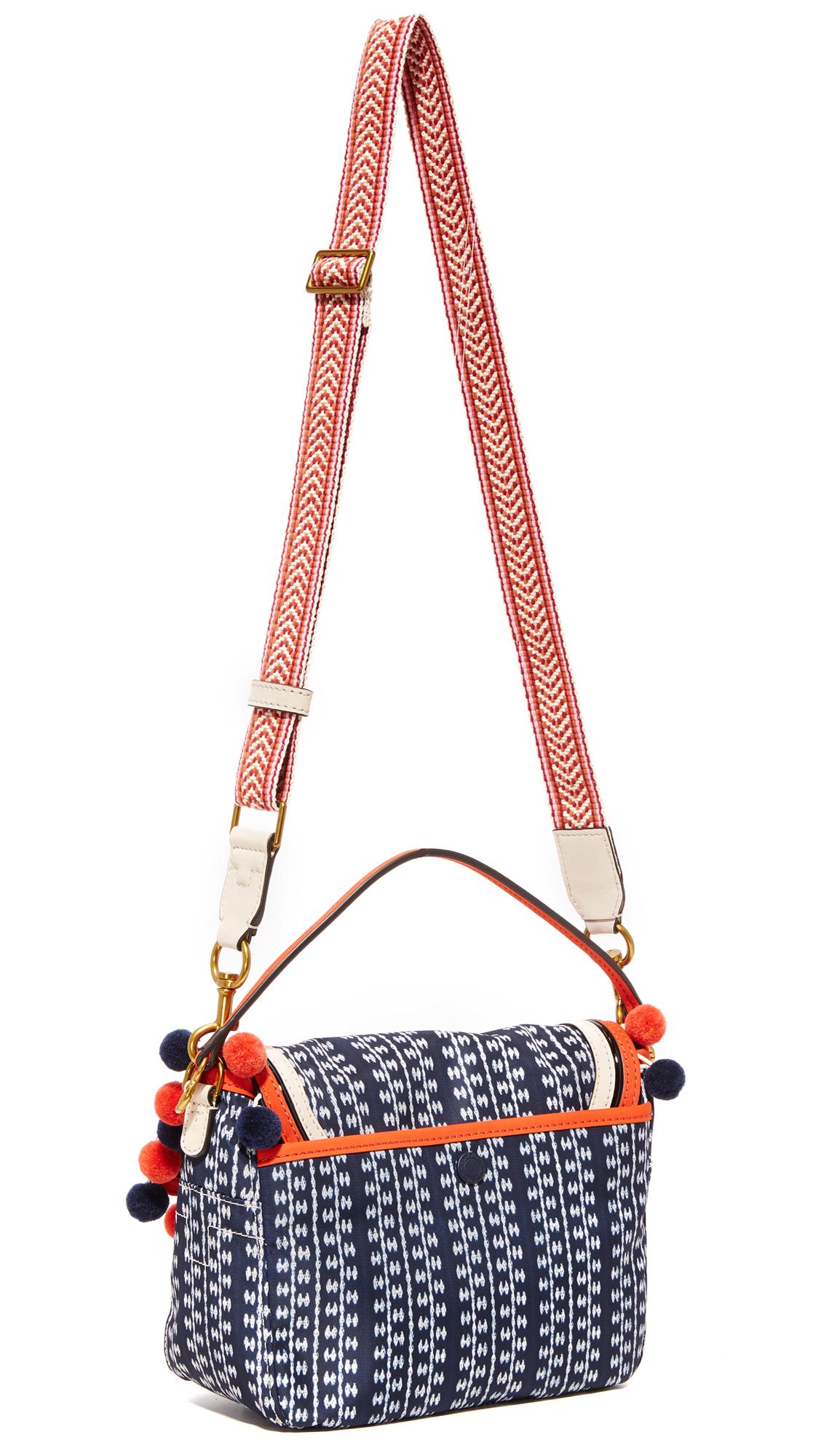 0001d3d73b4e Tory Burch Scout Nylon Pom Pom Cross Body Bag
