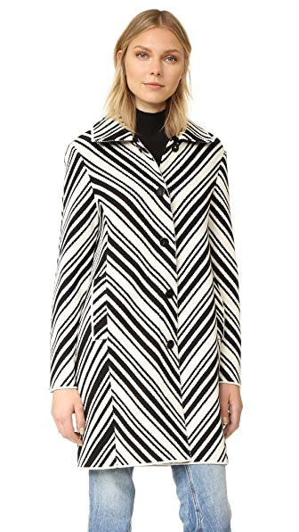 Tory Burch Tavia Jacket - Black/New Ivory