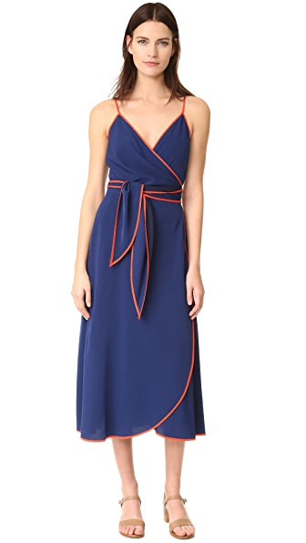 Tory Burch Grotto Wrap Dress - Navy Sea