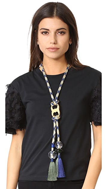 Tory Burch Long Gemini Rope Necklace