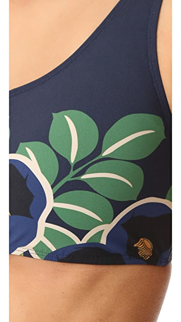 Tory Burch Avalon One Shoulder Bikini Top