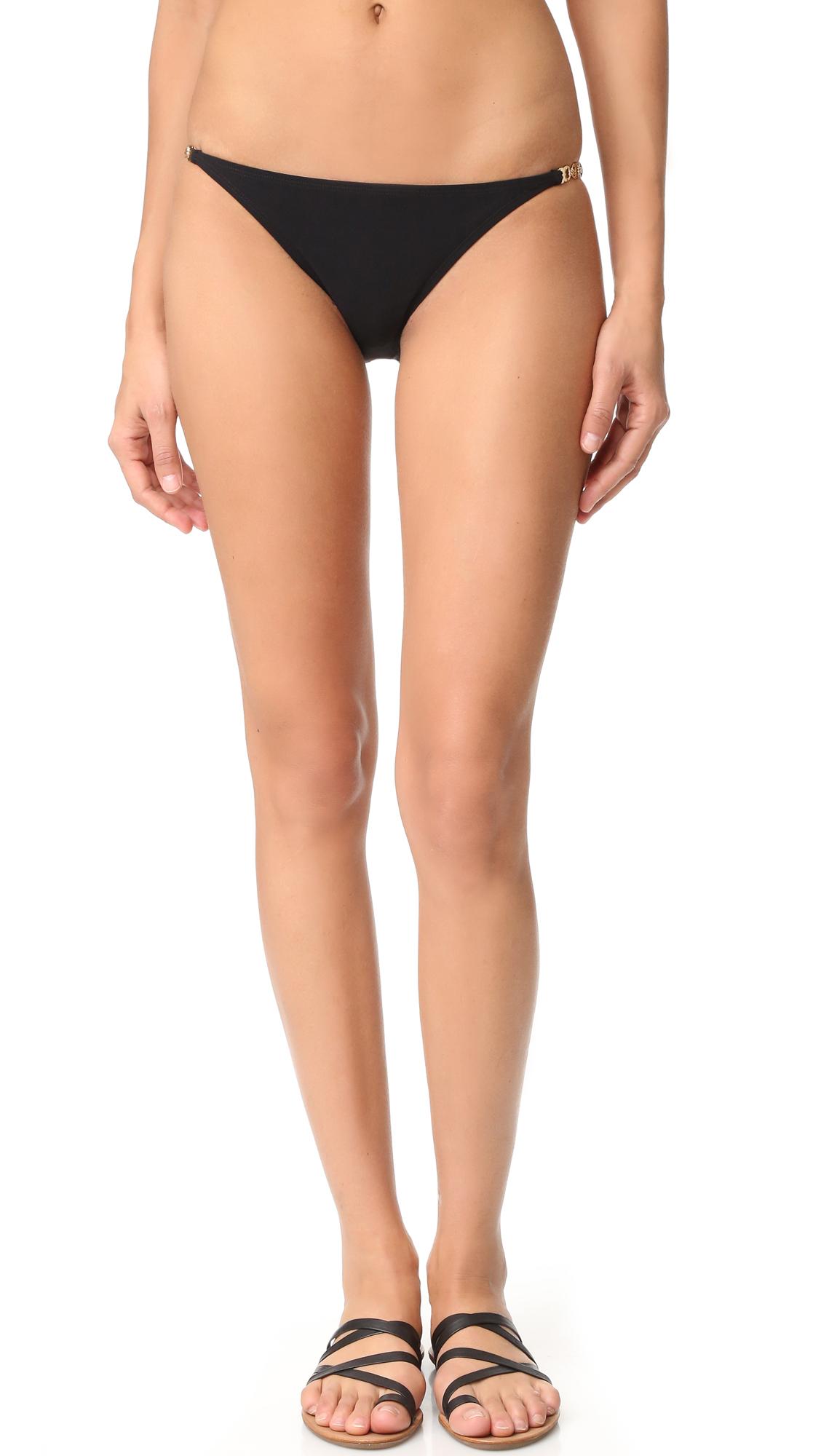 Tory Burch Gemini Link Bikini Bottoms - Black