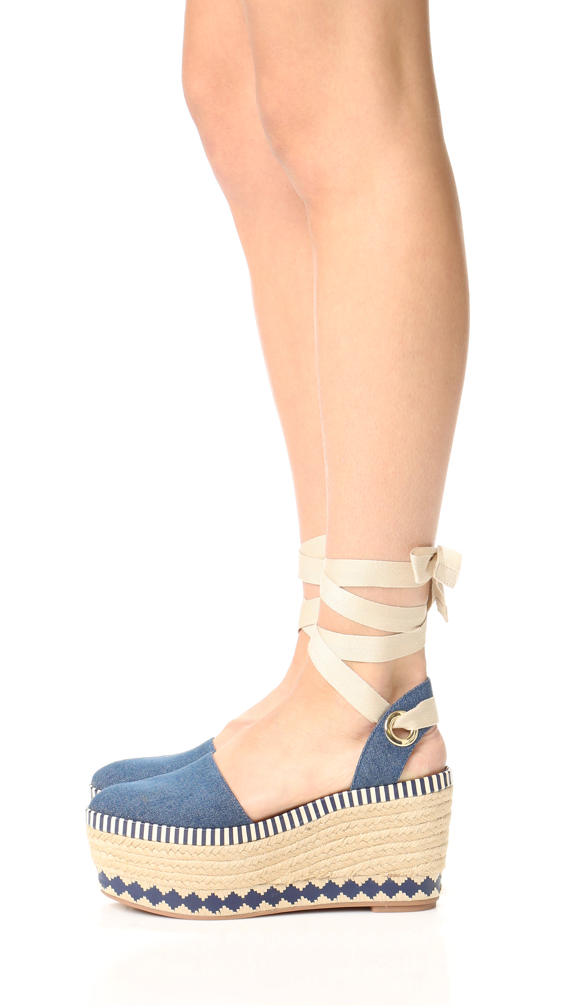 Tory Burch Wrap-Around Espadrille Wedges clearance with paypal a4ZariQWV