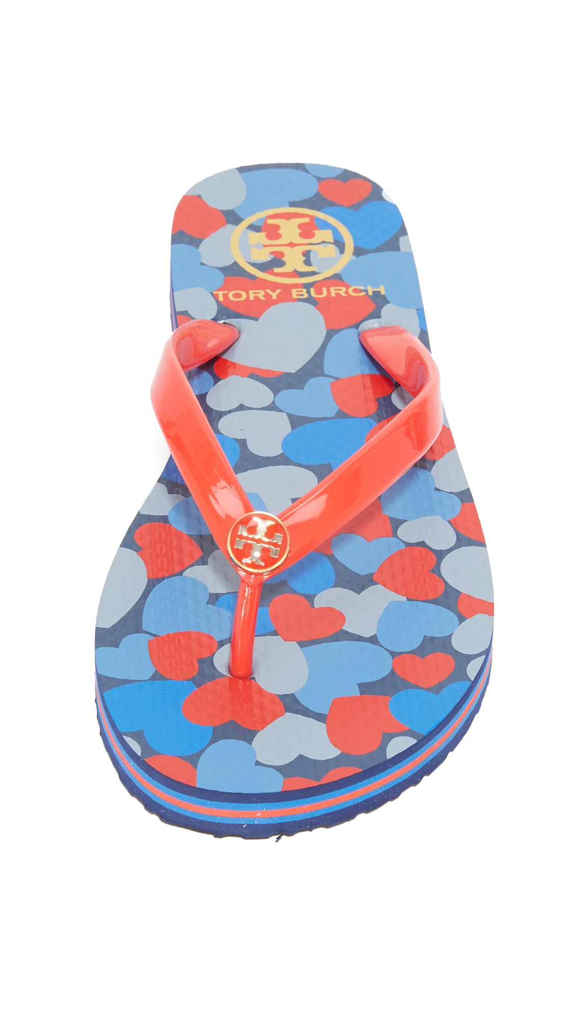 927043e936e5 Tory Burch Classic Striped Flip Flops