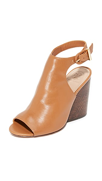 Tory Burch Grove Open Toe Booties - Royal Tan