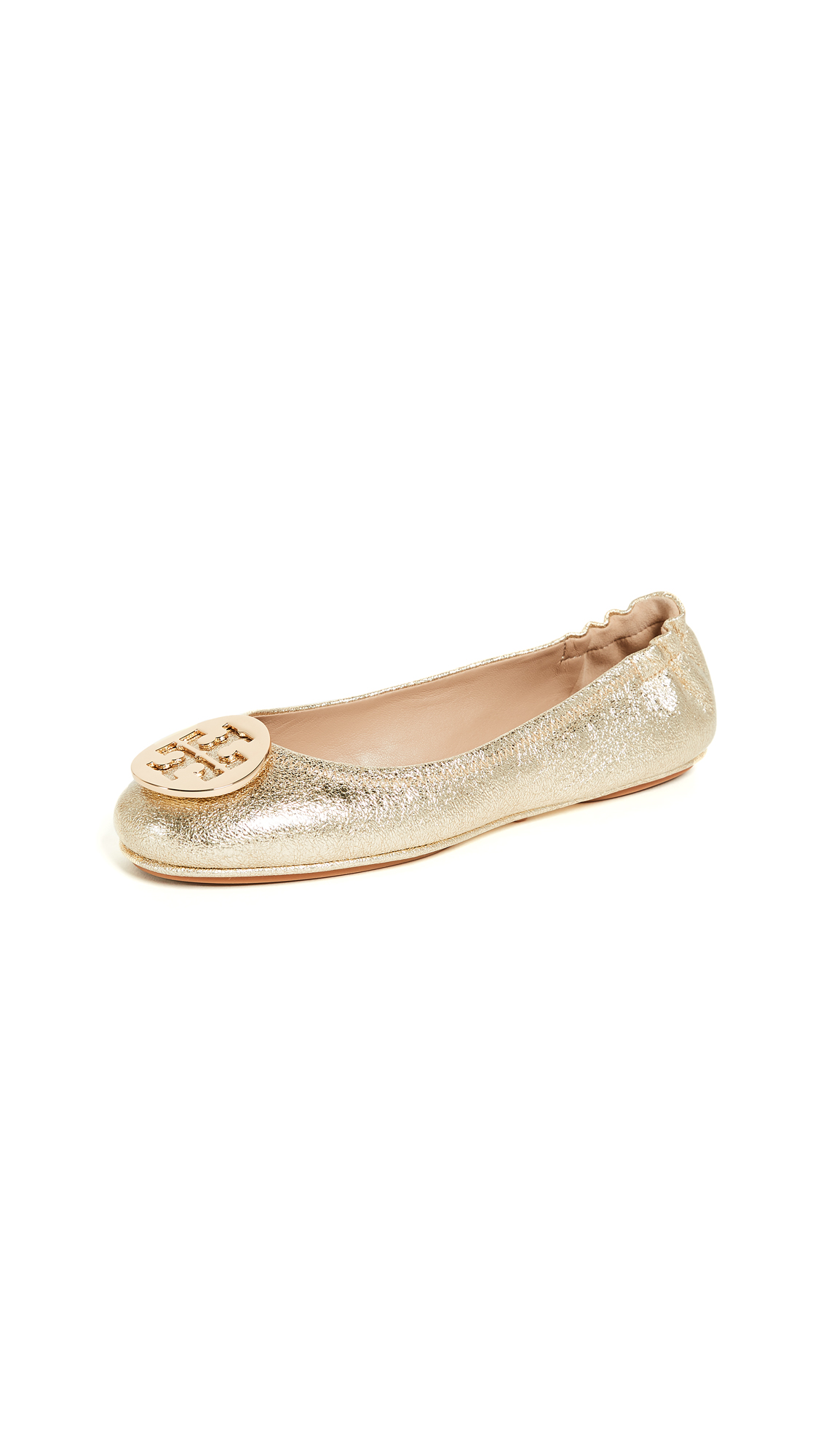 Tory Burch Minnie Travel Ballet Flats - Spark Gold