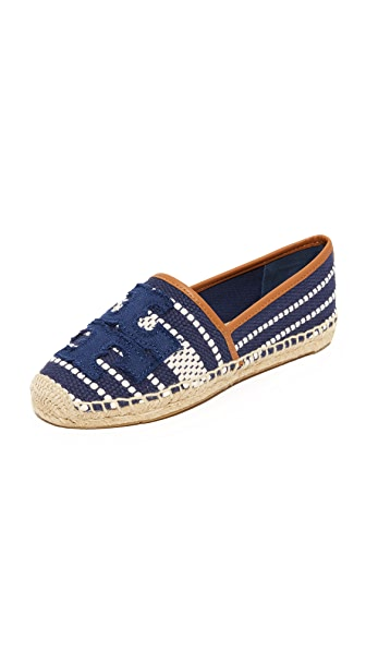 Tory Burch Shaw Espadrilles - Navy Sea/Royal Tan