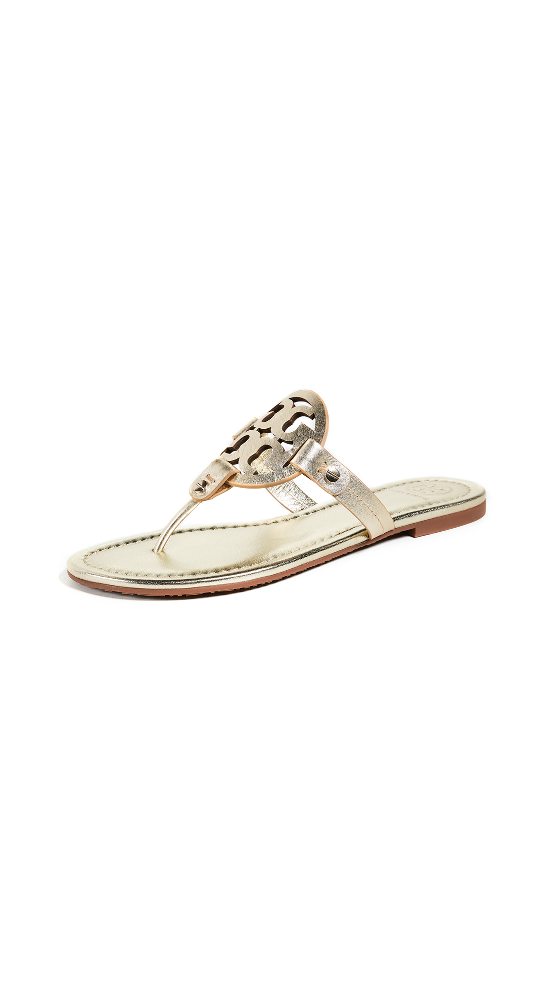 Tory Burch Miller Thong Sandals - Spark Gold