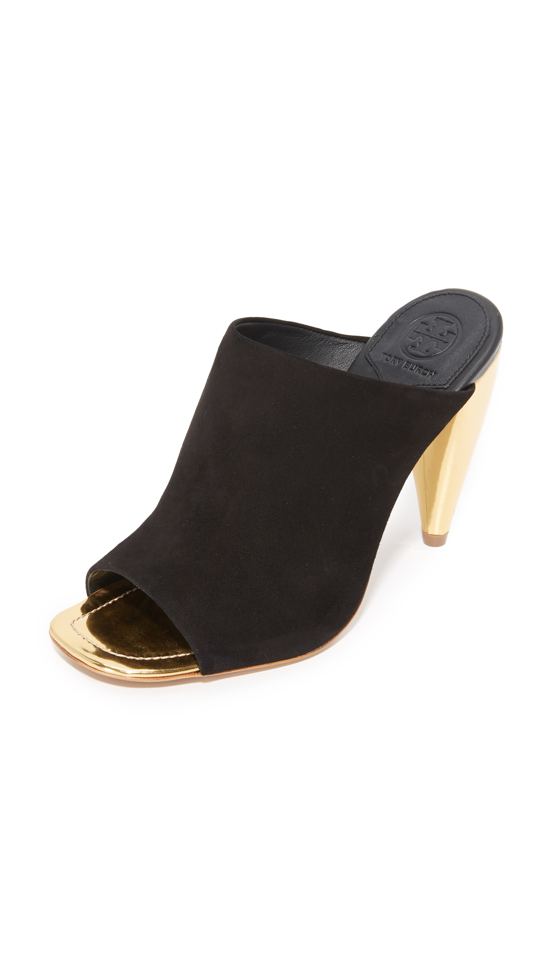 tory burch female tory burch ellis mules black