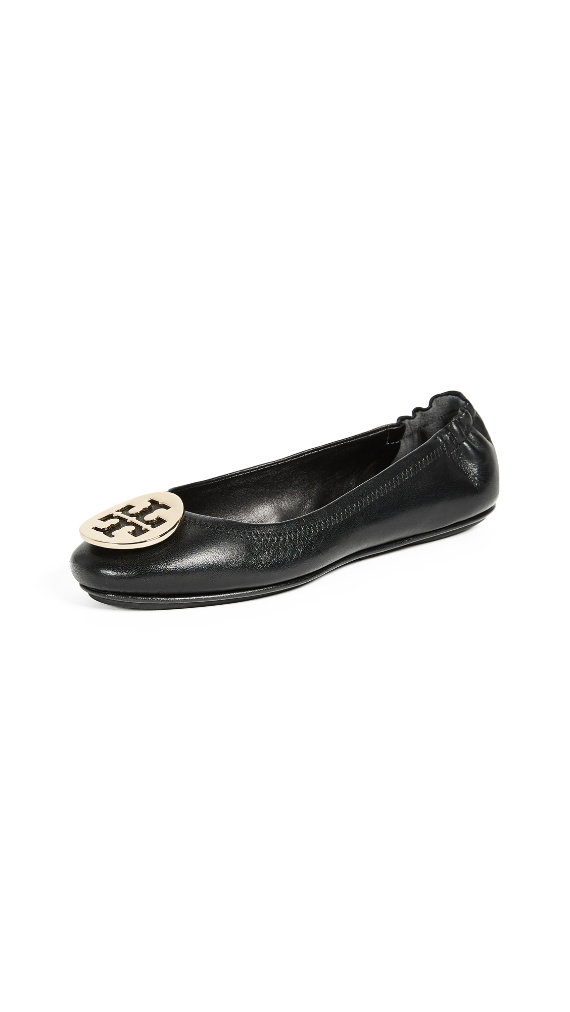 Tory Burch Minnie Travel Ballet Flats - Black/Gold
