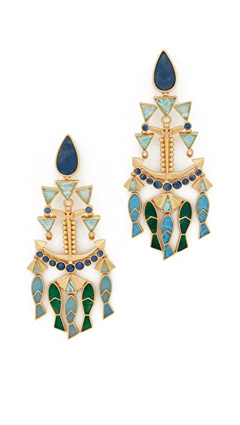 Tory Burch Fish Statement Clip On Earrings