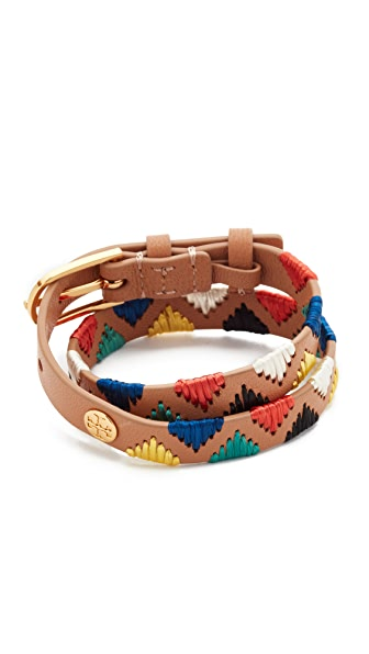 Tory Burch Raffia Double Wrap Bracelet