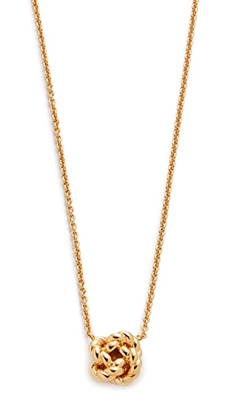 Tory Burch Rope Knot Delicate Necklace