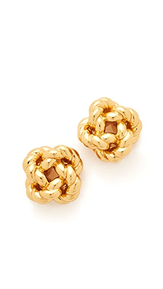 Tory Burch Rope Knot Stud Earrings - Tory Gold