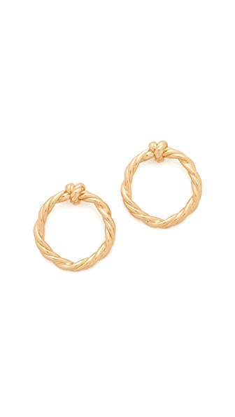 Tory Burch Twisted Knot Earrings In Tory Gold