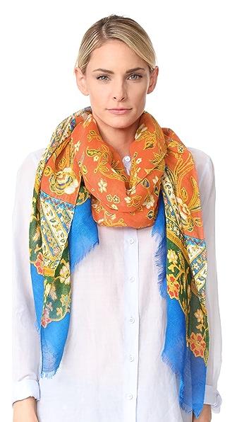 Tory Burch Продолговатый шарф с волнистым рисунком под батик