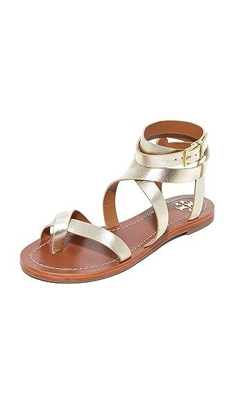 Tory Burch Patos Sandals - Spark Gold