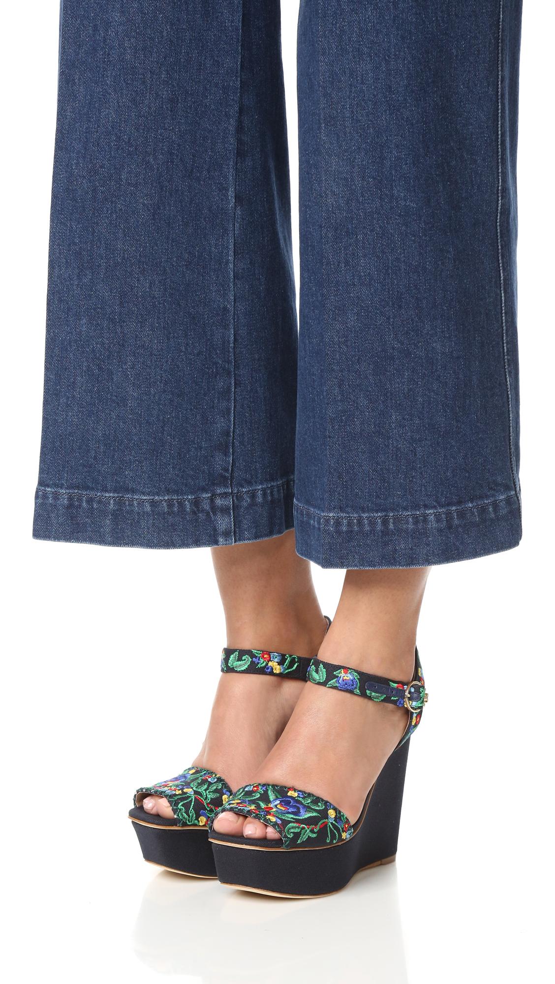 12e71f300005 Tory Burch Sonoma Embroidered Platform Sandals