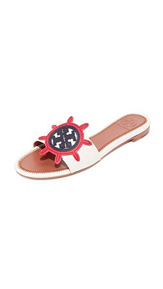 Tory Burch Maritime Slides - Ivory/Multi