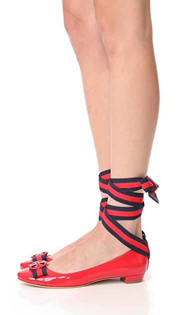 Tory Burch Maritime Ankle Wrap Ballets