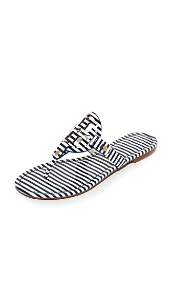 Tory Burch Miller Thong Sandals - Nautical Stripe