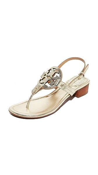 Tory Burch Miller Sandals - Spark Gold