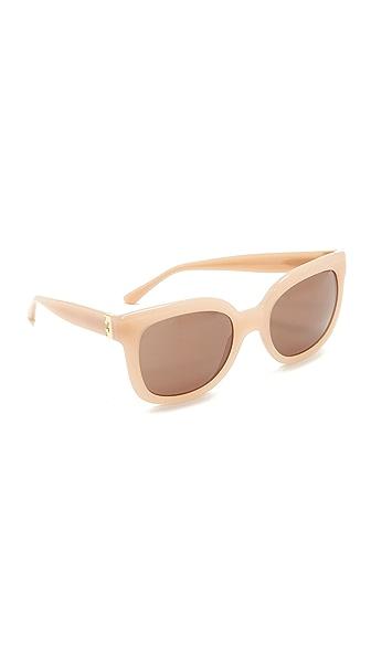 Tory Burch Солнцезащитные очки в квадратной оправе
