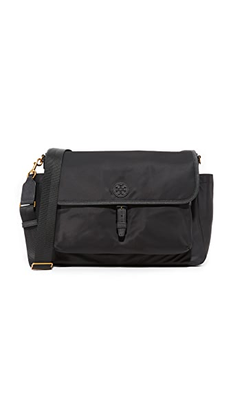 Tory Burch Scout Nylon Messenger Baby Bag In Black