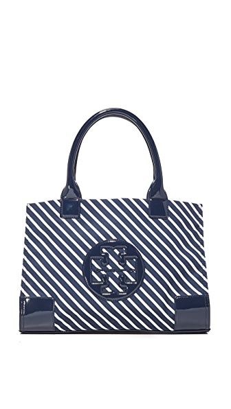 Tory Burch Nylon Mini Ella Stripe Tote