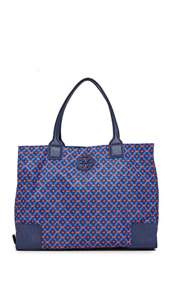 Tory Burch Ella Packable Printed Nylon Tote
