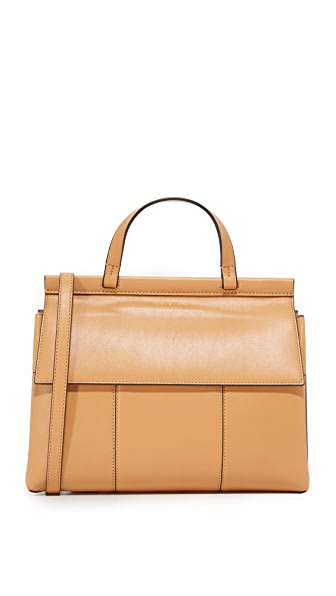 Tory Burch Block T Top Handle Satchel - Vachetta