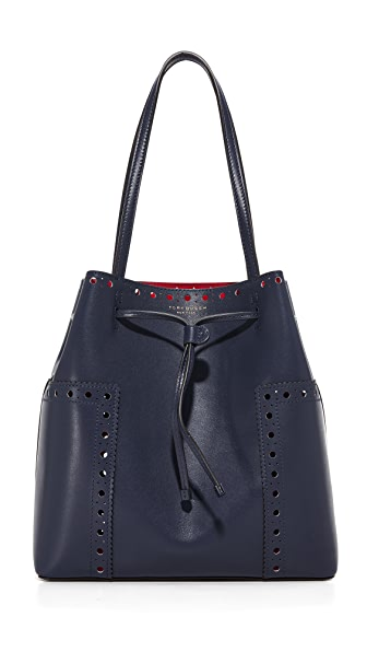 Tory Burch Block T Brogue Bucket Tote