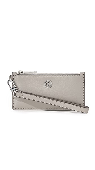 Tory Burch Parker Zip Card Case - Dust Storm