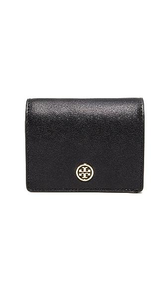 Tory Burch Parker Foldable Mini Wallet - Black