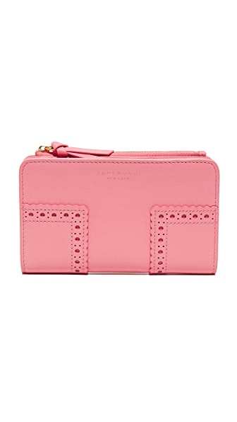 Tory Burch Block T Brogue Medium Wallet - Cosmo