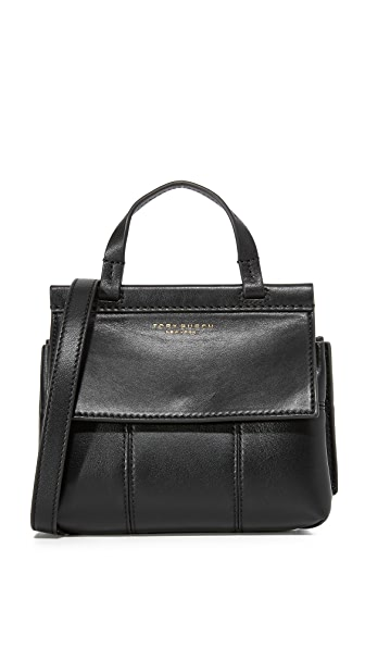 Tory Burch Block T Mini Top Handle Bag - Black