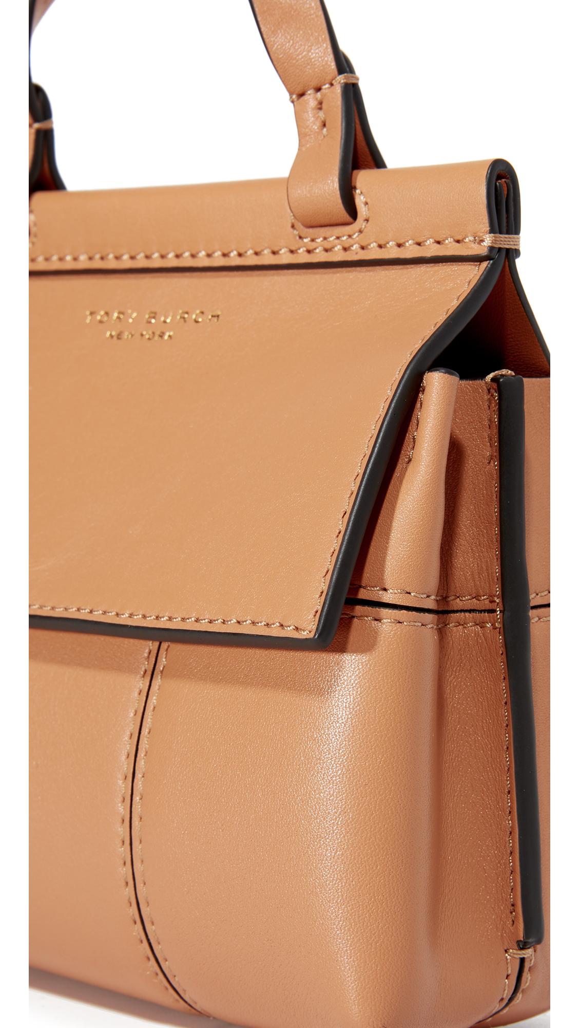 13cbf184e2e Tory Burch Block T Mini Top Handle Bag