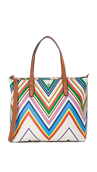 Tory Burch Kerrington Print Small Square Tote