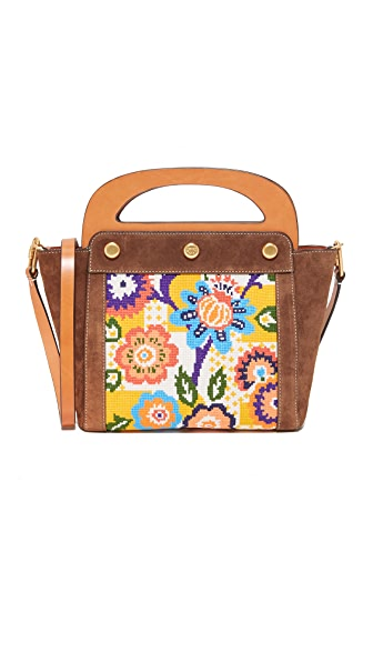 Tory Burch Needlepoint Bermuda Bag - Floral
