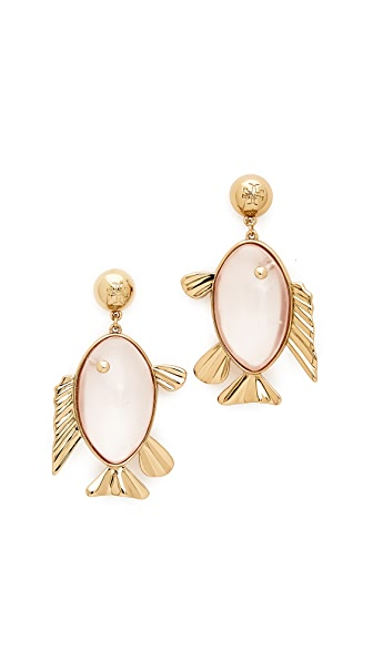 Tory Burch Fish Drop Earrings
