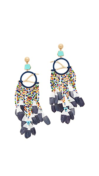 Tory Burch Dreamcatcher Statement Earrings - Multi/Vintage Gold