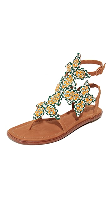 Tory Burch Palisade Flat Sandals