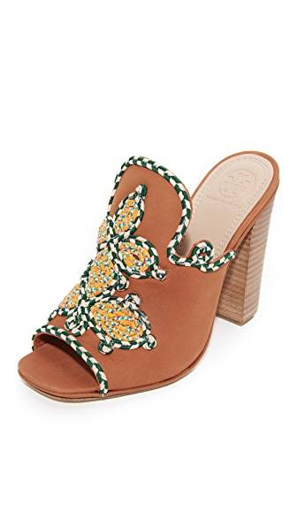 Tory Burch Palisade Mules - Burch Tan/Multi