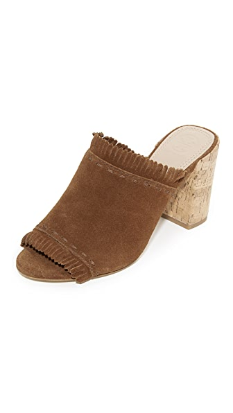Tory Burch Huntington Mules - Festival Brown/Embroidery