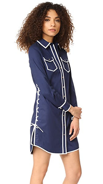 Tory Burch Nora Shirtdress In Navy Sea